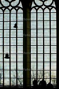 AD/HC - GLAS-IN-LOODRAMEN KLOOSTERKERK GERESTAUREERD  - DEN HAAG 13 JANUARI 2005 - FOTO NICO SCHOUTEN