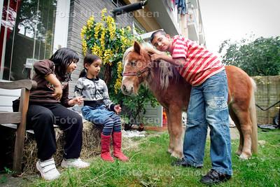 """AD/HC - """"PAARD IN DE GANG""""  Een ponny in de achtertuin - DEN HAAG9 OKTOBER 2006 - FOTO NICO SCHOUTEN"""