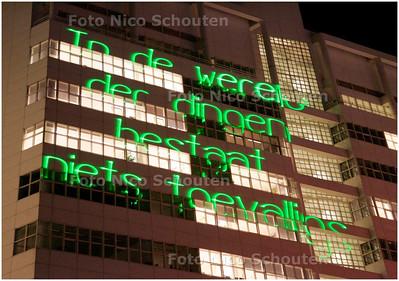 AD/HC - Lichtproject rond Spinoza, SPUIPLEIN - DEN HAAG 11 DECEMBER 2007 - FOTO NICO SCHOUTEN