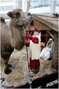 AD/HC - LEVENDE KERSTSTAL ATRIUM STADHUIS - DEN HAAG 14 DECEMBER 2007 - FOTO NICO SCHOUTEN