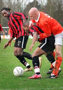 AD/HC - voetbalwedstrijd JAC-Deltasport - Veel duw en trekwerk bij JAC-Deltasport - WASSENAAR 17 FEBRUARI 2007 - FOTO NICO SCHOUTEN