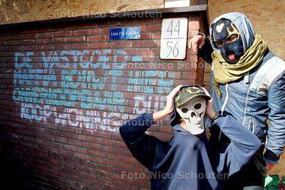 AD/HC - LAATSTE BEWONERS FINNENBURG - DEN HAAG 1 MAART 2007 - FOTO NICO SCHOUTEN