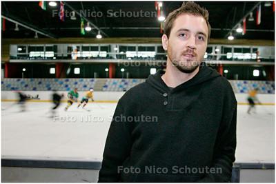 AD/HC - Matt Korthuis, uit Canada, de nieuwste aanwinst van HYS-ijshockey - kwam wegens problemen met het openbaar vervoer te laat voor zijn eerste training - DEN HAAG 1 OKTOBER 2007 - FOTO NICO SCHOUTEN