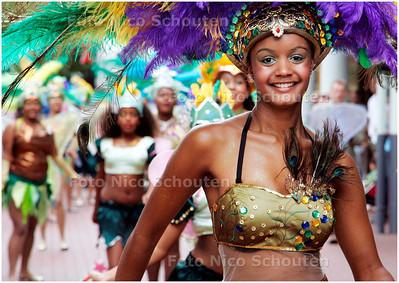 AD/HC - Carribbean-festival (carnaval), dansgroep GABO VERDE CHEGOU -  STADSHART,  ZOETERMEER 2 SEPTEMBER 2007 - FOTO NICO SCHOUTEN