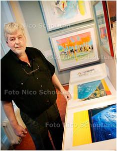 AD/HC - zeefdrukker Wout van der Vet in Stadsmuseum - ZOETERMEER 7 SEPTEMBER 2007 - FOTO NICO SCHOUTEN