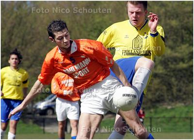 AD/HC - voetbalwedstrijd DWO - Alphia - ZOETERMEER 12 APRIL 2008 - FOTO NICO SCHOUTEN