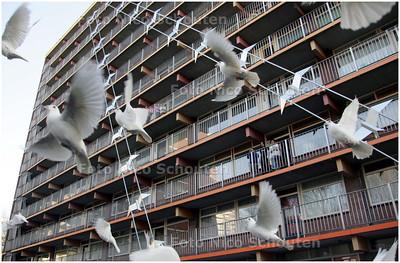 AD/HC - Opening kunstwerken aan flat in Palenstein -  ZOETERMEER 11 APRIL 2008 - FOTO NICO SCHOUTEN