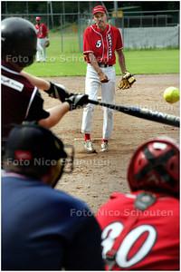 AD/HC - softbal: kokolishi-storks. kokolishipitcher Henk Arnold - DEN HAAG16 AUGUSTUS 2008 - FOTO NICO SCHOUTEN