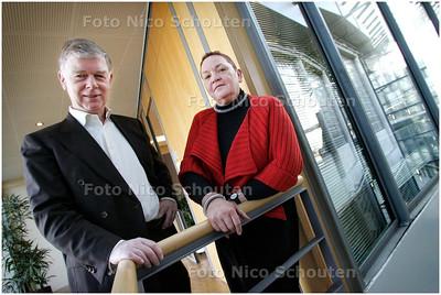 AD/HC - Pim Breebaart (HHS)(l) en Jos Leenhouts (Mondriaan), dubbelinterview over de aansluiting  van het onderwijs in de regio Haaglanden op de arbeidsmarkt - DEN HAAG 18 FEBRUARI 2008 - FOTO NICO SCHOUTEN