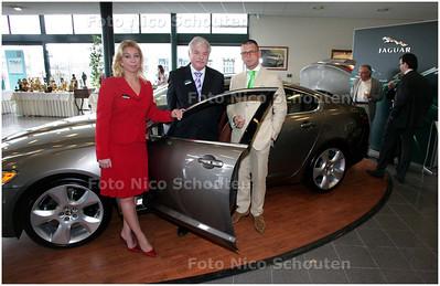 AD/HC - Lifestylefair van Jaguar, vlnr Hanneke en Kees Raaphorst en Patrick Buch - DEN HAAG 8 MAART 2008 - FOTO NICO SCHOUTEN