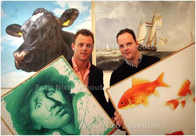 AD/HC - GALERIE ART GAAT SAMEN MET KUNSTFABRIEK -  Tim (l) en Dennis de Leeuw - DEN HAAG 5 MAART 2008 - FOTO NICO SCHOUTEN