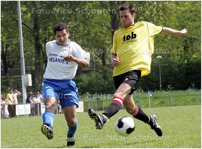 AD/HC - voetbalwedstrijd GONA-WRW  - de voorzetten kwamen niet goed aan - DEN HAAG 4 MEI 2008 - FOTO NICO SCHOUTEN