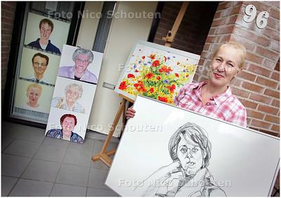 AD/HC - Kunstenares Marian van Zomeren is een van de deelnemers aan Open Atelierdagen - ZOETERMEER 4 SEPTEMBER 2008 - FOTO NICO SCHOUTEN