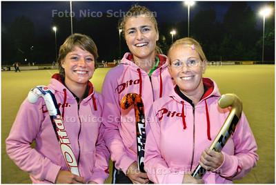 AD/HC - MHCZ-hockeysters (VLNR) Marianne van der Horst, Marije van Zeggeren en Linda van Sas. Zij gaan hun comeback in het eerste team maken - ZOETERMEER 9 SEPTEMBER 2008 - FOTO NICO SCHOUTEN