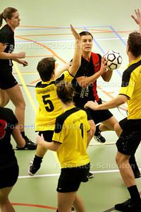 Korfbal: KVS-Tempo - aanval KVS - DEN HAAG 5 DECEMBER 2009 - FOTO NICO SCHOUTEN