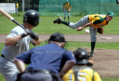 Honkbal: pitcher Jurrian Koks;  ADO tegen Pirates - DEN HAAG 13 JUNI 2009 - FOTO NICO SCHOUTEN