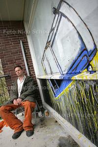 HDT / Artist in residence Martijn Koolstra in de Poptahof - DELFT 6 MEI 2009 - FOTO NICO SCHOUTEN