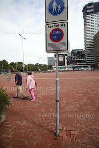 Hier geen fout geparkeerde fietsen bij het Centraal Station - DEN HAAG 12 AUGUSTUS 2011 - FOTO NICO SCHOUTEN