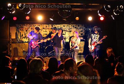 bandmarathon in Nederland 3 ter gelegenheid van het 40-jarig bestaan van het popcentrum - De band Big City Goose - WATERINGEN 19 FEBRUARI  2011 - FOTO NICO SCHOUTEN