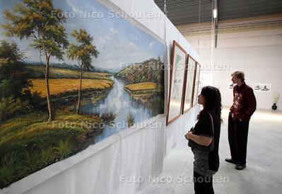 Expopsitie Chinese kunst in Kunsthal Terra - werk van Wu Park - ZOETERMEER 6 JUNI 2011 - FOTO NICO SCHOUTEN
