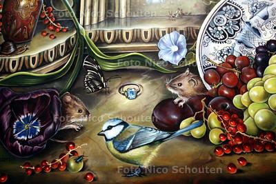 """Sonja van der Heijden in Museum Het Prinsenhof - Detail uit """"De Ring"""" - DELFT 9 JUNI 2011 - FOTO NICO SCHOUTEN"""