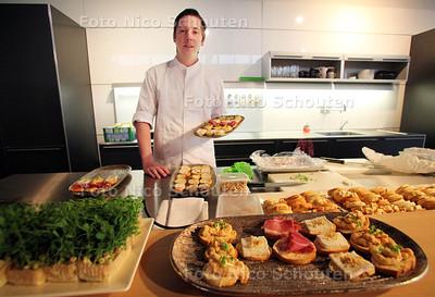Topkok Niven Kunz komt koken tijdens het Style Event van Van Waay Interieurs - BENTHUIZEN 29 OKTOBER 2011 - FOTO NICO SCHOUTEN