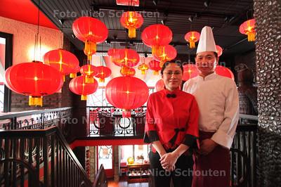 Restaurant Bo&Xiao voor de Gouden Pollepel - links Bo rechts Xiao - DEN HAAG 13 SEPTEMBER 2011 - FOTO NICO SCHOUTEN