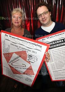 Yvonne Schols en Erik van Boheemen organiseren veiligheidsfestival in meerzicht - ZOETERMEER 6 SEPTEMBER 2011 - FOTO NICO SCHOUTEN