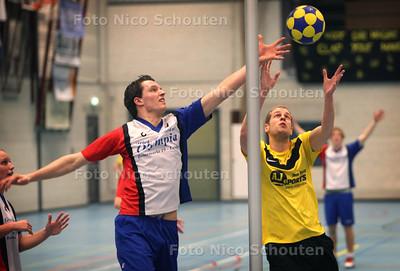 Die Haghe-Sporting, korfbal - DEN HAAG 24 FEBRUARI 2012 - FOTO NICO SCHOUTEN