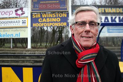 Kees Wenneker, de organisator van het Haaglanden voetbal toernooi. De finale wordt gespeeld bij Haaglandia - DEN HAAG 26 JANUARI 2012 - FOTO NICO SCHOUTEN