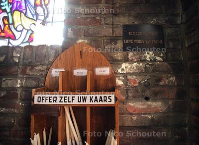 Ingebroken bij Marlotkerk - Plek waar offerblok hing in Mariakapel - DEN HAAG 2 JULI 2012 - FOTO NICO SCHOUTEN