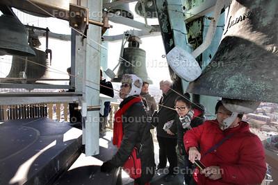 DAG VAN DE HAAGSE GESCHIEDENIS - Rondleiding in de Haagse toren - Het carillon, hoog in de Haagse Toren - DEN HAAG 7 APRIL 2013 - FOTO NICO SCHOUTEN