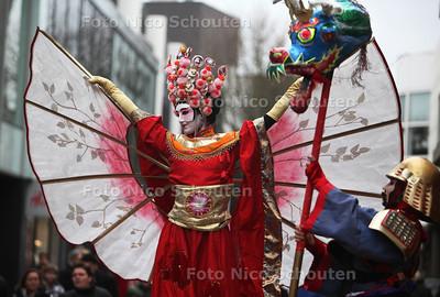 'Chinese' activiteit in het Stadshart. Het Stadshart staat voor een dag in het teken van China - ZOETERMEER 23 FEBRUARI 2013 - FOTO NICO SCHOUTEN