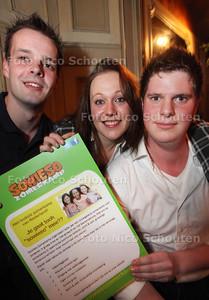 Organisatoren zomerkamp Sowieso: Vlnr Arnoud, Nikita Folsche en Wilco - ZOETERMEER 21 JANUARI 2013 - FOTO NICO SCHOUTEN