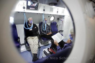 Het nieuwe Hyperbaar Geneeskundig Centrum Rijswijk is open. Patiënten met chronische wonden krijgen er in een speciale tank zuurstoftherapie - RIJSWIJK 27 JUNI 2013 - FOTO NICO SCHOUTEN