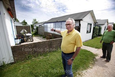 Rob Viskil van belangengroep vak c en d van vakantiapark Vlugtenburg. Er komt dinsdag een rechtszaak over de Polen die er volgens Viskil een zooitje van maken - 'S-GRAVENZANDE 29 JUNI 2013 - FOTO NICO SCHOUTEN