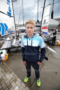 Gunnar Larsen eigenaar van schevenings bedrijf Nacra Sailing, die met zijn bedrijf alle boten maakt voor zeil WK's - DEN HAAG 8 MEI 2013 - FOTO NICO SCHOUTEN
