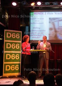 Debat van Rachid Guernaoui en Ingrid v Engelshoven: beide D66'ers willen lijsttrekker worden - DEN HAAG 16 MEI 2013 - FOTO NICO SCHOUTEN