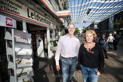 Winkeliers in Leidsenhage over de uitbreidingsplannen - LEIDSCHENDAM 27 SEPTEMBER 2013 - FOTOGRAAF NICO SCHOUTEN