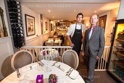 Restaurant De Pepermolen voor de Gouden Pollepel - Eigenaar Wilbert Hilgerseom (r) en Chefkok Tobias Jansen - LEIDSCHENDAM 17 SEPTEMBER 2013 - FOTO NICO SCHOUTEN