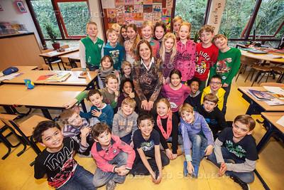 Juf Aimee neemt na 42 jaar afscheid van de Emmausschool - VOORSCHOTEN 25 FEBRUARI 2014 - FOTOGRAFIE NICO SCHOUTEN