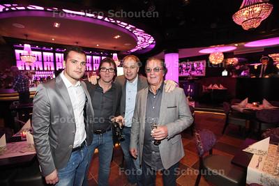 Opening Cloony - vlnr Dominique van Asselt, Jan van Asselt, René Bogaart en Jan van Asselt Sr - ZOETERMEER 18 JANUARI 2014 - FOTOGRAAF NICO SCHOUTEN