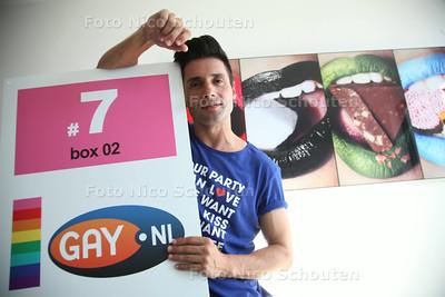 Luuk Wessels, party-organisator die met de eerste Haagse boot meevaart op de Gay Pride komend weekeinde in Amsterdam - DEN HAAG 30 JULI 2014 - FOTOGRAFIE NICO SCHOUTEN