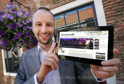 Martijn Vellekoop heeft een christelijke prijs gewonnen voor zijn missionair werk in de regio - NAALDWIJK 12 JUNI 2014 - FOTOGRAFIE NICO SCHOUTEN