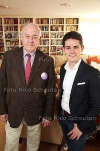 Oudste en jongste politicus op de lijst van Zoetermeer - duo interview mr. Ing. Hans Hiestand van ZO (l) en Duco Mülder van VVD - ZOETERMEER 17 MAART 2014 - FOTOGRAFIE NICO SCHOUTEN