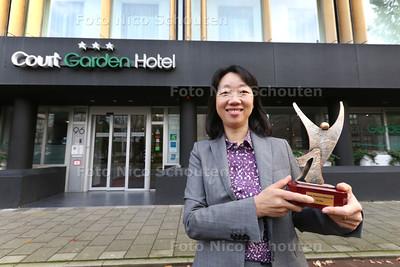 Achon Zhang, eigenaar hotel Court Garden, zij is is uitgeroepen tot ethnisch zakenvrouw van het jaar - DEN HAAG 30 OKTOBER 2014 - FOTOGRAFIE NICO SCHOUTEN