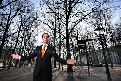 Groenwethouder Boudewijn Revis op het Lange Voorhout - DEN HAAG 23 JANUARI 2015 - FOTO NICO SCHOUTEN