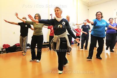 De Delftse Taoïstische Tai Chi Vereniging houdt vanavond een open avond - LET OP! Dit zijn geen beginners! - DELFT 28 APRIL 2016 - FOTO NICO SCHOUTEN