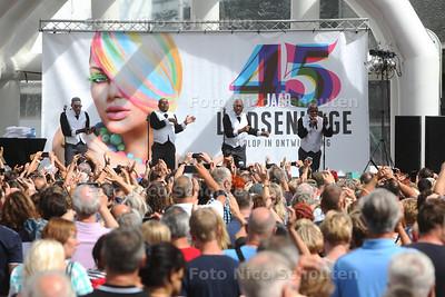 The Trammps treden live op in Leidsenhage - LEIDSCHENDAM 28 AUGUSTUS 2016 - FOTO NICOSCHOUTEN