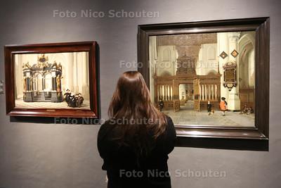 Expositie Straatje van Vermeer in het Prinsenhof - DELFT 23 MAARTV 2016 - FOTO NICO SCHOUTEN